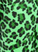Green and black camouflage faux fur leopard print backgound poster