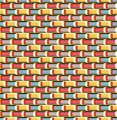 Old school 8 bit brick arcade game style background (seamless vector) poster