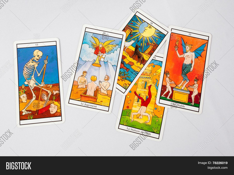 Pile Tarot Cards Image & Photo (HD) | Bigstock