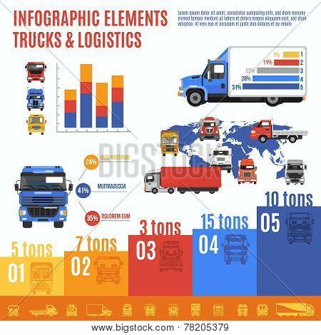 Truck Infographic Set