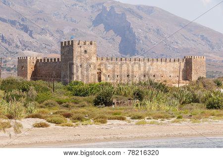 The Venetian Fortress Frangokastello at the southwest side of Crete