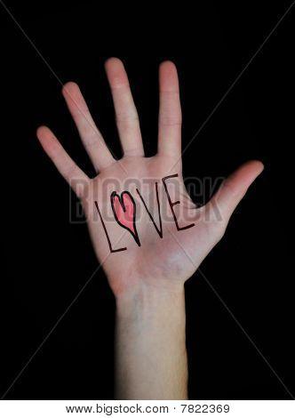 Love Written On Hand