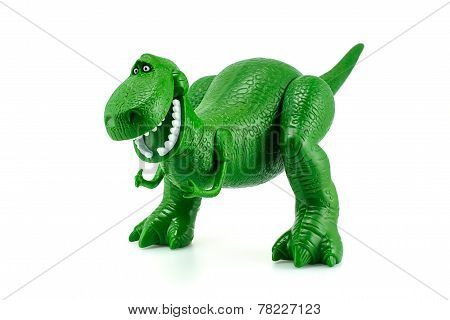Rex The Green Dinosaur Toy Character From Toy Story Animation Film.