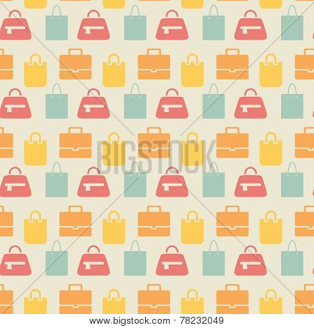 Sale background with shopping bags pattern