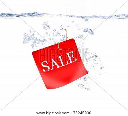 Sale Tag on Fish Hook