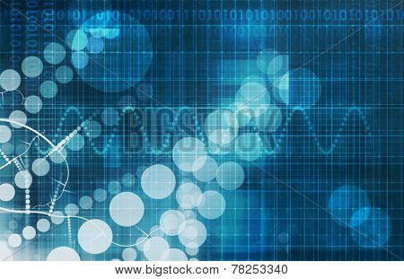 Medical Abstract Background with Science Theme Abstract
