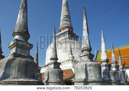 Chedi Phra Baromathat in Nakhon Sri Thammarat, Thailand.