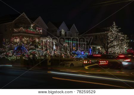 Christmas Decorations In Dyker Heights, Brooklyn, Ny