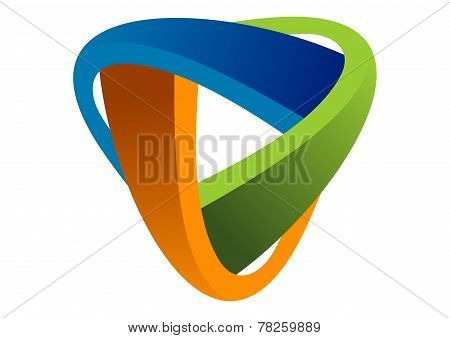 triangle infinity corporate business vector logo design