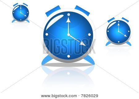 The blue clock