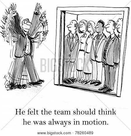 Team Leader is Always Busy