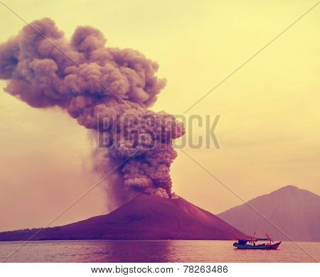 eruption of Anak Krakatau-