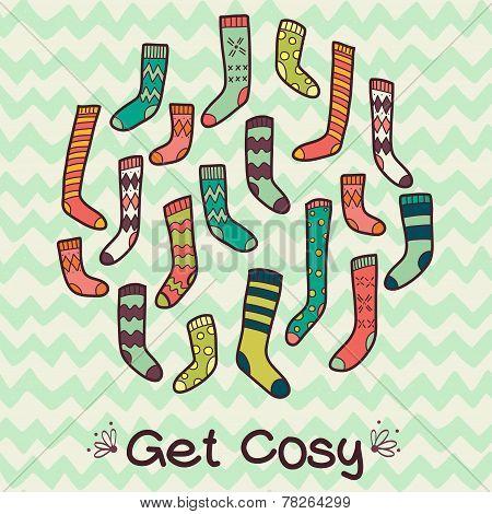 Colorful Patterned Socks