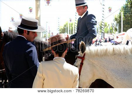 Riders At Seville Fair
