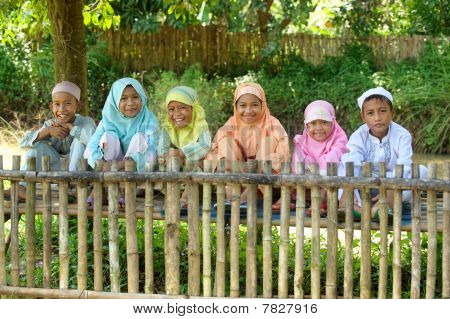 Group of Happy Kids Outdoor