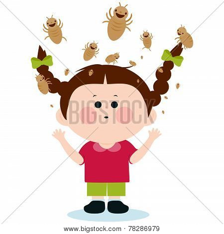Girl with lice