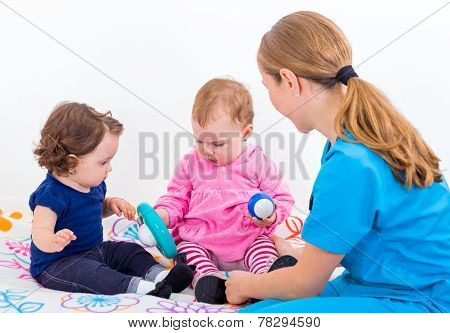 Two Adorable Baby At The Doctor