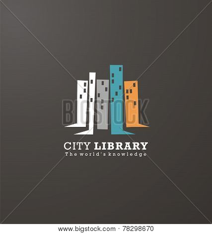 Logo design idea for library or book store