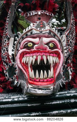 Monster Mask In Carnival Of Bayaguana