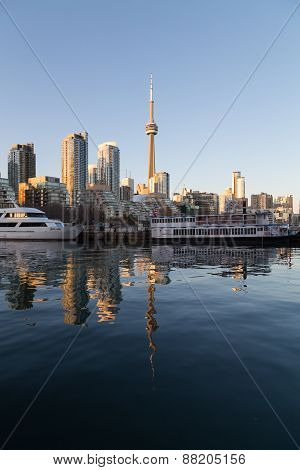 Toronto Waterfront At Sunset