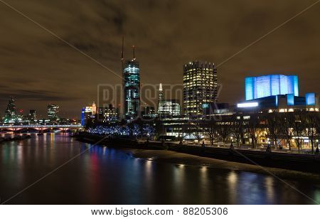 Part Of The London Skyline At Night