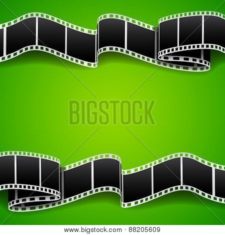 Background with film reel