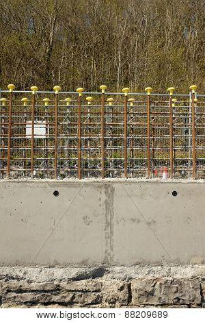Concrete Wall Construction.