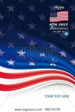 American flag background for Independence Day.