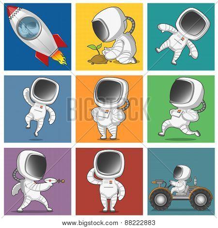 set of astronauts
