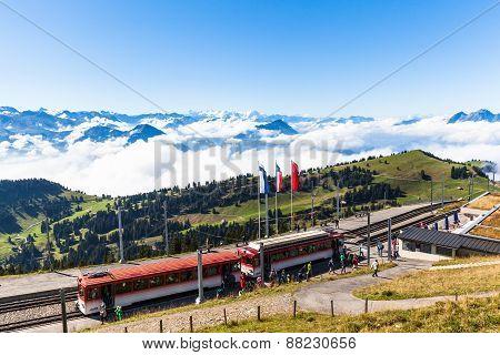 Rigikulm Station Of Cogwheel Train
