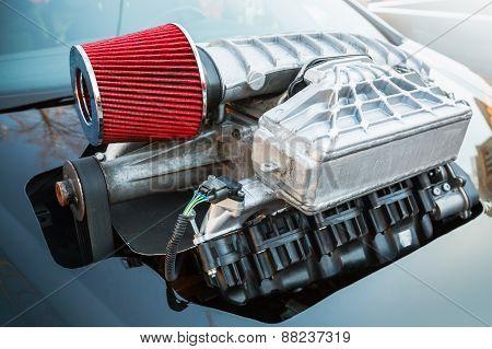 Supercharger, Air Compressor, Street Race Car