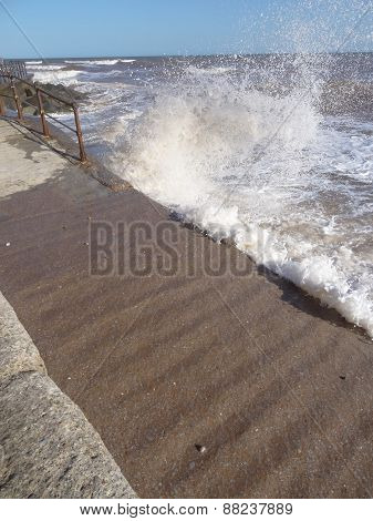 Waves Upon Slipway Seascape