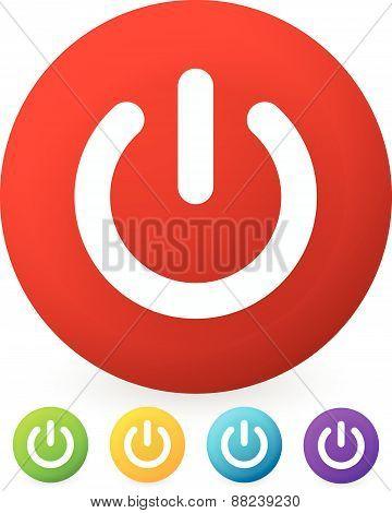 Power Button, Power Symbol Vector Graphics (eps10)
