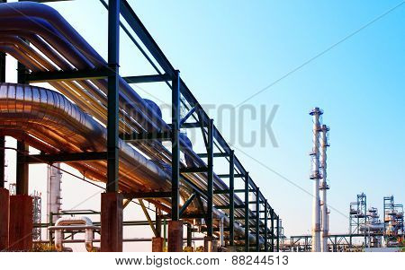 Equipment And Pipe Line Tube In Industry Estate Scene Use For Industrial And Petrochemical Industry