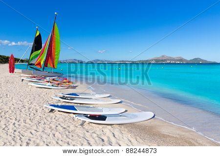 Platja de Muro Esperanza beach in Alcudia Bay Majorca Mallorca