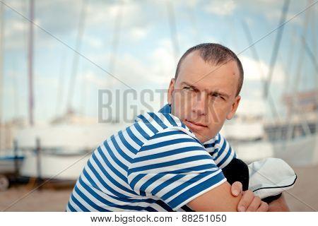 Portrait Of Middle-aged Sailor