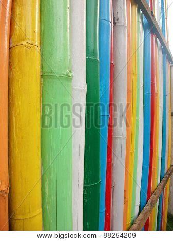 Wall Made Of Bamboo