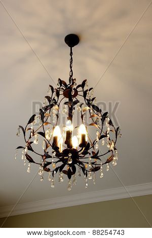 Beautiful Crystal Chandelier with Multiple Bulbs