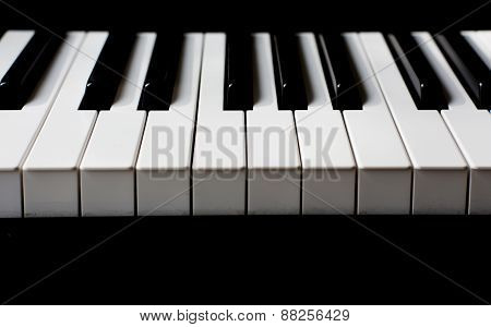 Closeup Of The Keyboard Of A Piano