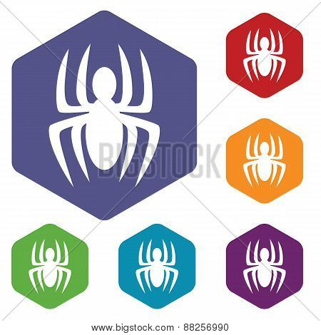 Spider rhombus icons
