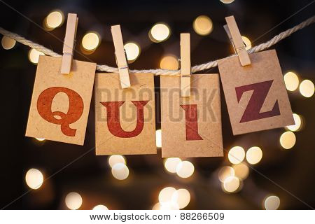 Quiz Concept Clipped Cards And Lights