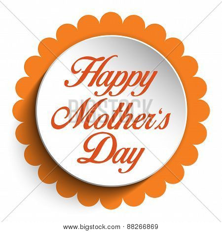 Happy Mother Day Heart Tag Background
