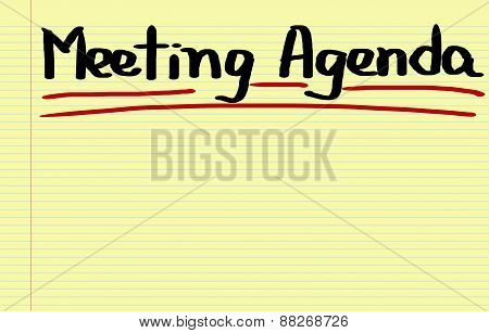 Meeting Agenda Concept