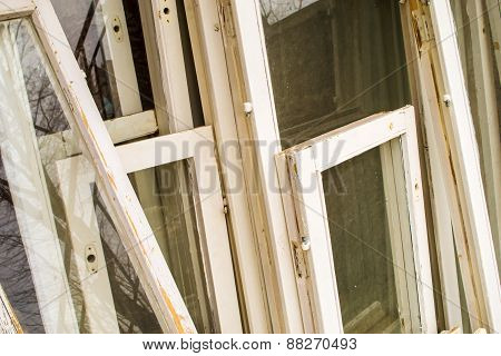 Old White Window Frames