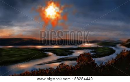 Landscape Sun In Sky Stalker Theme
