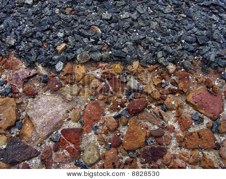 Stones and tar