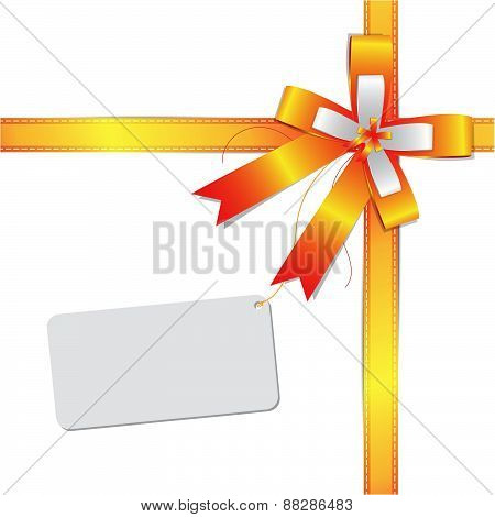 Ribbon Bow With Label