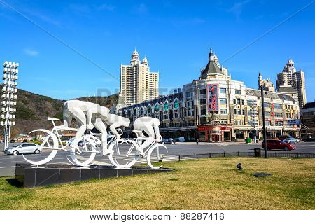 Sculpture At Xinghai Square, Dalian China