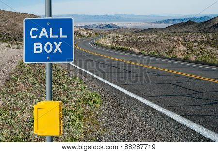 Emergency Call Box and Sign