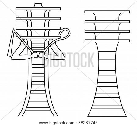 Djed Pillars Outline
